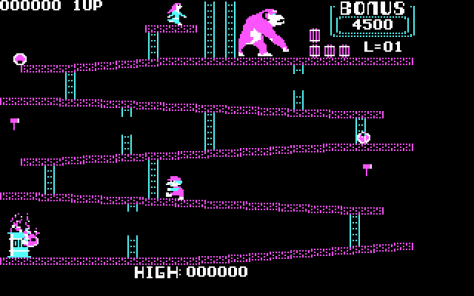 Donkey Kong was one of the first recognized platform games