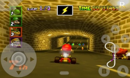 Mario Kart plays great on the N64oid
